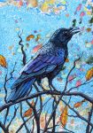 Crow in the Spinney by scumbellina