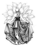 Drapery Study in Ink - 4 (Black Orchid) by outsidelogic