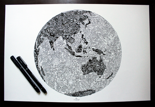 Doodle Earth by LeiMelendres