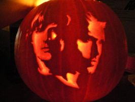 My pumpkin of WINchesters by nicomi