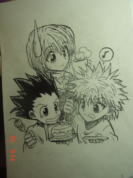 The three from Hunter X Hunter by Blacksspirit