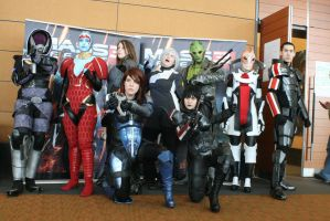 Mass Effect Group at Pax East by BrassIvyDesign