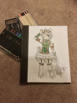Steampunk girl (Additional colour time!) by Cerise-M