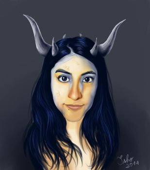 Dragon Self Portrait by Isho13