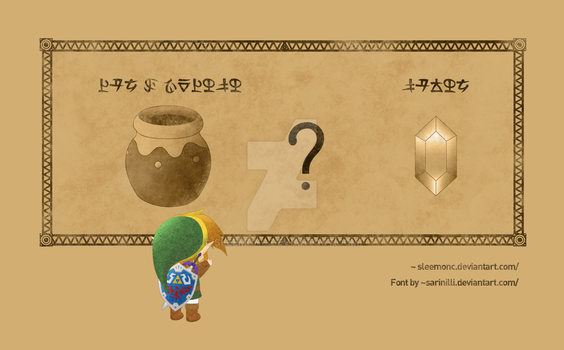 How Link learned about the hidden rupees by Sleemonc