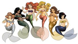 Loish's Mermaids by foreverbeginstoday