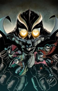 Batman family NIGHT OF OWLS colored by Dany-Morales