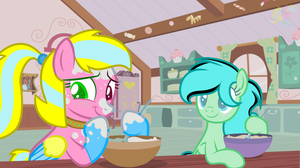 Mlp Baking Day With MeadowDash101 (Collab) by DiamondcloudBase
