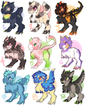 Tufty Trex Adoptables 3! [Closed, thanks so much!] by bricu
