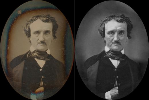 Edgar Allan Poe before and after by dovel100