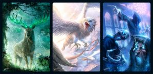 AeS cards - green, white and blue by FedericoMusetti