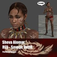 Sheva Alomar RE5 Savage Outfit by Adngel