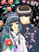 young Seishiro and his mother by escafan