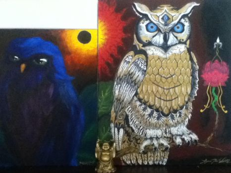Indigenous Hooting and Howling Owls by BorderlineCreep99