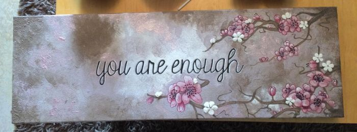 You are enough  by Drawlover