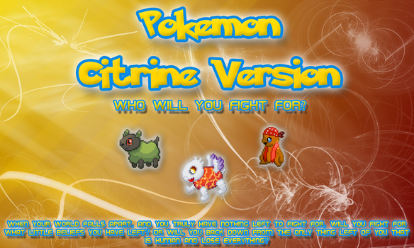 New Pokemon Citrine Logo by ThatsSoWitty