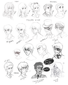 Everos - characters sketchdump by ntyer
