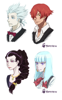 anime girl hair styles parade and tokyo ghoul by taffydesu on deviantart 3610 | death parade hair swap by taffydesu d8nkr2i