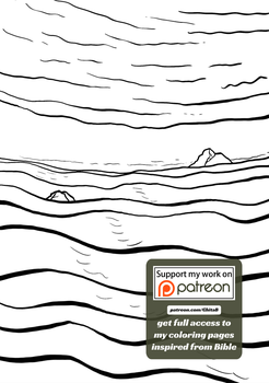 [006] Genesis 1:6 - coloring page - Bible by GhitaBArt
