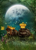 Frog King and his Queen by KarinClaessonArt