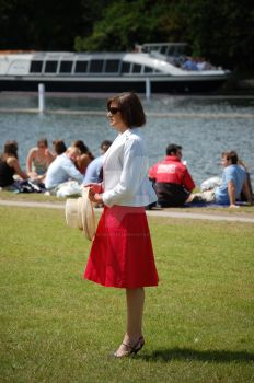 Lady in Red Skirt by bound2pleaze