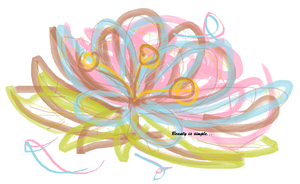 Doodle flower white by Kaganali