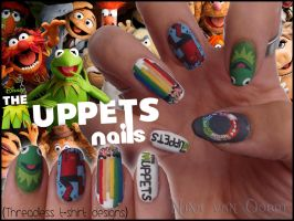 The Muppets nails by Ninails