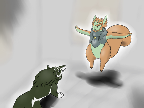 Wolf Link And Squirrel Ganon by Tauberpa