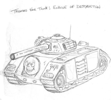 Thomas The Tank:  ENGINE OF DESTRUCTION by artschoolreject