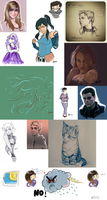doodling and sketching by Fennethianell