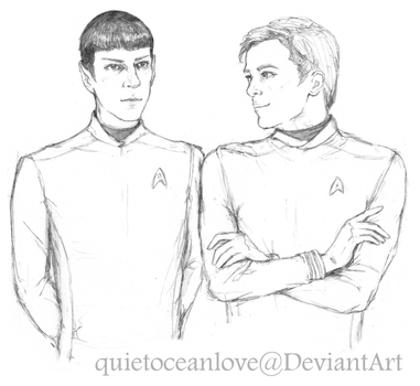 Spirk (Star Trek Beyond) by quietoceanlove