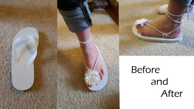 Before and After Flip Flops by CythLP