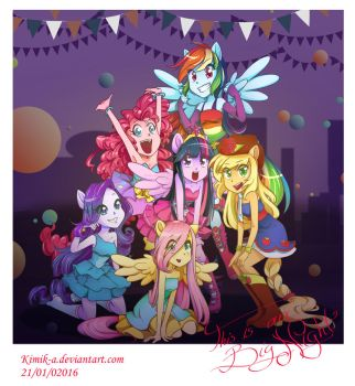 MLP: Our big Night + Speedpaint by KimiK-A