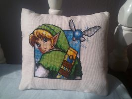 Link pillow by Clairtjow