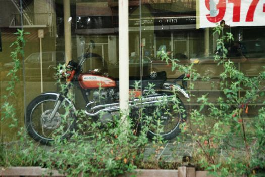 Motorcycle in Window by liivexurxliifex2