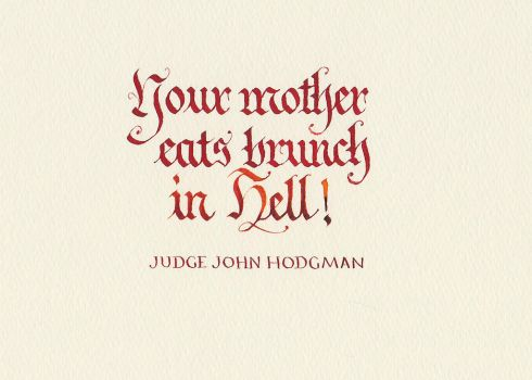 Judge John Hodgman - Your Mother by MShades