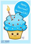 Gift for Gilster 262 - Birthday cupcake 2015 by Lily-Skadi