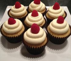 Lemon Raspberry Cupcakes by Deathbypuddle