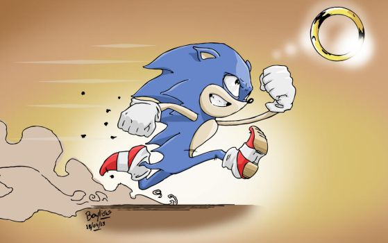Sonic 30 minute Sketch by RyanBayliss