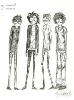 My Chemical Romance [style of Tim Burton] by emmagriffiths