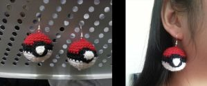 Pokeball Earrings by gardensofmay