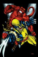 Wolverine and Hellboy by Ta2dsoul