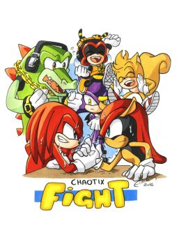Chaotix fight! by FinikArt