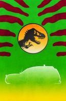 Movie Car Racing Posters - Jurassic Park Explorer by Boomerjinks