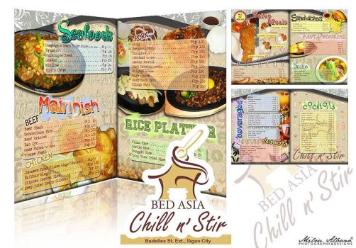 Bed Asia Chill n' Stir Menu by milou7