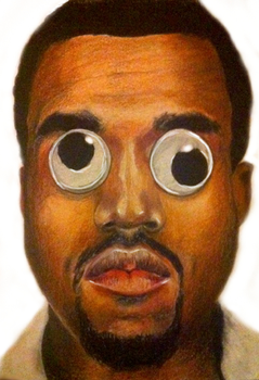 An accurate portrait of Kanye by BurningCrayola