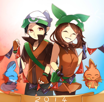 Ruby and sapphire by Himechui