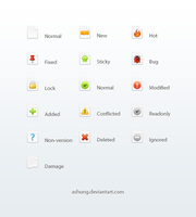 File Status Icons by Ashung