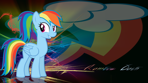 Rainbow Dash with ponytail wallpaper by LeonBrony