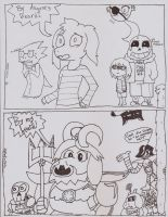 Undertale Crossover thing by Z0mbieC4tz